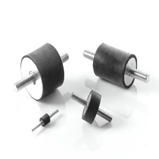 Odbojniki cylindryczne, wibroizolatory gumowo-metalowe